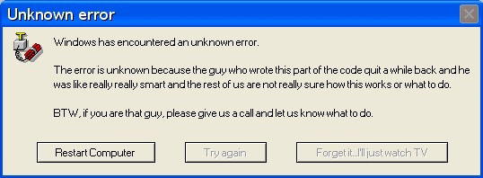 Funny Error Messages Blue Screen